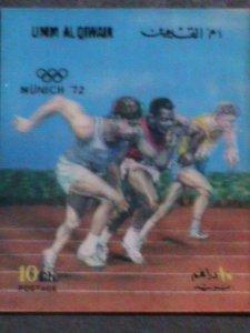 UM-AL QIWAIN STAMP-1972- OLYMPIC GAME MUNICH'72 - AIRMAIL- 3-D STAMP MNH #2