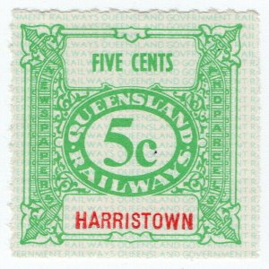(I.B) Australia - Queensland Railways : Parcel Stamp 5c (Harristown)