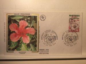 France Colorano silk FDC, 3 février 1979, Martinique floralies internationales