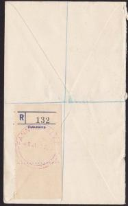 GILBERT & ELLICE IS 1937 NZ POST OFFICE Reg cover ex FANNING ISLAND........68788