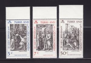Turks and Caicos Islands 202-204 Set MNH Easter, Art (B)