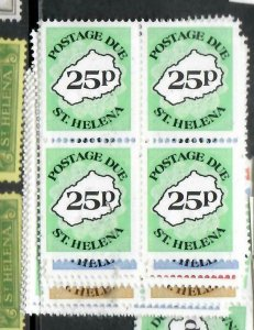 ST HELENA  (PP1305B)  POSTAGE DUE  SC J1-6  BL OF 4    MNH