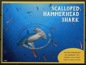 Union Island Gren St Vincent Stamps 2019 MNH Scalloped Hammerhead Sharks 1v S/S