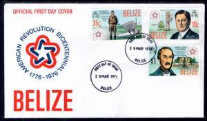 Belize 374-376 US Bicentennial U/A FDC