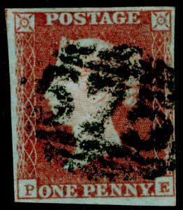 SG8, 1d red-brown LATE 102, USED. Cat £35. PE