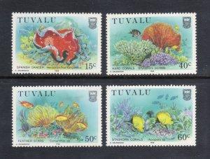 TUVALU 465-8 MNH VF Sea Shells Complete set