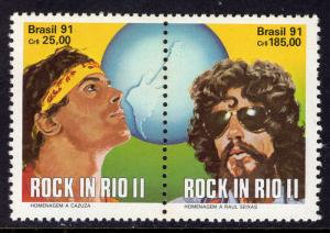 Brazil MNH 2299a Pair Rock In Rio SCV 3.50