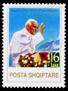 Albania 1993 Pope John Paul Scott #2434 Mint Never Hinged