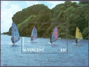 Saint Vincent and the Grenadines. 1988. bl57. Windsurfing. MNH.