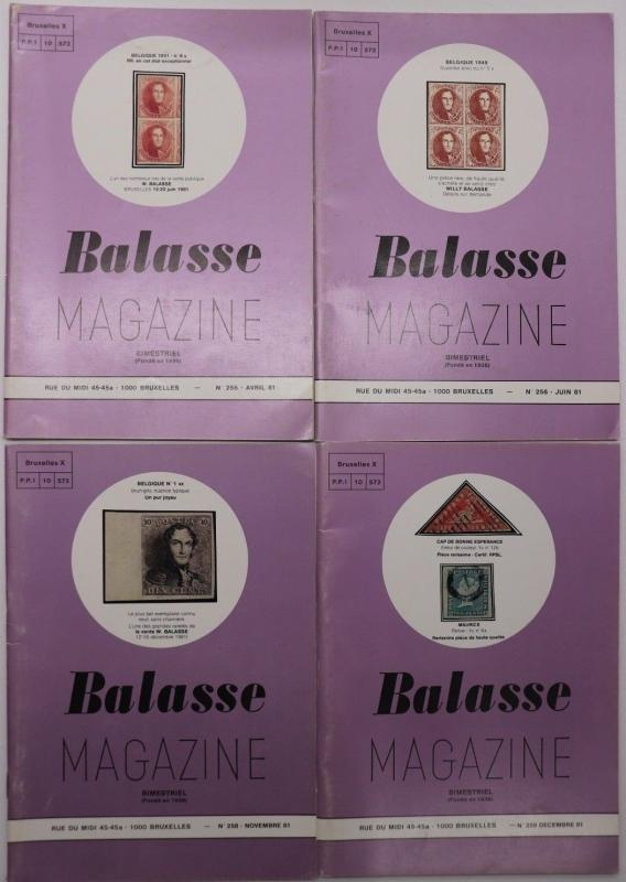 Balasse Magazine Belgium Stamp philatelic publication 1981 issues DM