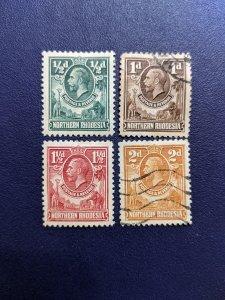 North Rhodesia 1-4 VF (1, 3 MH), CV $6.50