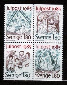 J23098 JLstamps 1985 sweden set mnh #1558-61 christmas