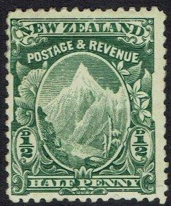 NEW ZEALAND 1902 MOUNT COOK 1/2D NO WMK PERF 14