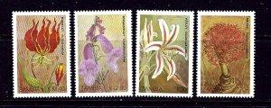 Zambia 482-85 MNH 1989 Christmas (Flowers)