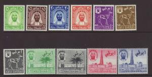 1964 Abu Dhabi Set Mounted Mint SG1/11