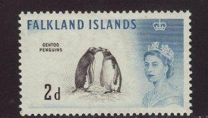 1960 Falkland Is 2d Gentoo Penguins Mounted Mint SG195