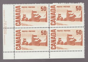 #265Aiv - Canada - 1971 - 50 Cent - Definitive - LL Pl. #2  - MNH - superfleas -