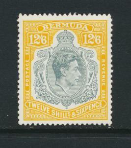 BERMUDA 1950, 12sh6d WITH 4 VARIETIES VF MNH SG#120e (SEE BELOW)