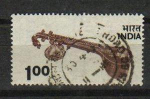India 1975  # 682    Veena  1oo  Definitive  Used  15575  D
