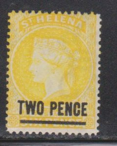 ST HELENA Scott # 36 MH - Queen Victoria With Surcharge