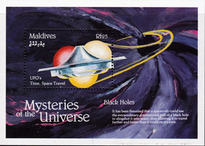 Maldive Islands 1992 Complete (16) Mysteries of the Universe Sheets Space VF/NH