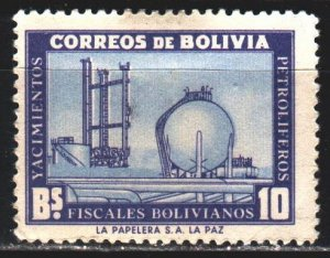 Bolivia. 1955. 546 from the series. Oil refining, oil rig. MLH.
