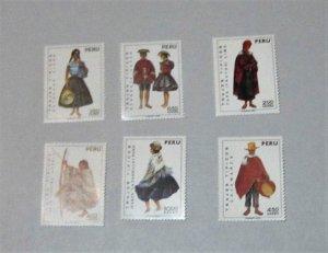 Peru - C343-48, MNH Short Set. Regional Costumes. SCV - $8.10