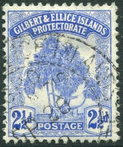 GILBERT & ELLICE ISLANDS-1911 2½d Blue Sg 11 FINE USED V34661