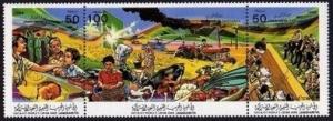 Libya 1305 ac strip,MNH.Michel 1656-1658. Governments Programs,1986.Medical,