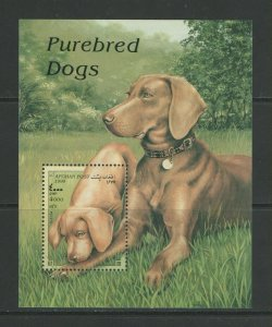 Afghanistan MNH S/S Purebred Dogs 1998
