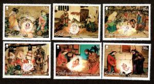 Gibraltar 2002  # Christmas set  MNH # 918-923