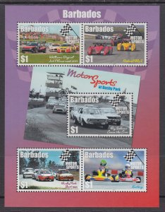 Barbados 1298 Cars Souvenir Sheet MNH VF