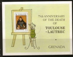 GRENADA SGMS815 1976 75th DEATH ANNIV OF TOULOUSE LAUTREC MNH