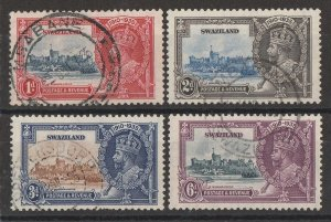 SWAZILAND : 1935 KGV Silver Jubilee set 1d-6d.