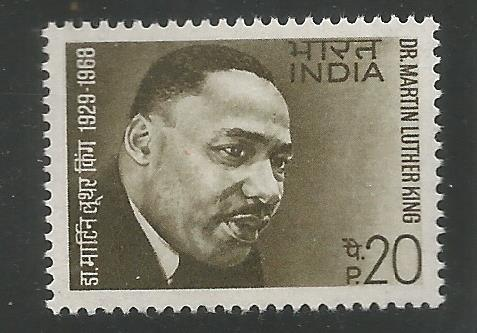 INDIA 486 MNH, DR. MARTIN LUTHER KING