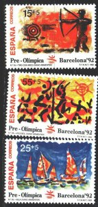 Spain. 1992. 3030-32. Barcelona Summer Olympics. MNH.
