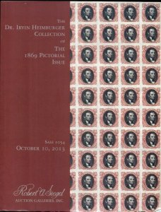 HEIMBURGER COLLECTION CATALOG, PICTORIAL ISSUE 2013, SIEGEL AUCTION, 134 PAGES