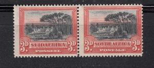 J28442, 1927-8 south africa mnh pair #27 perf type 14x131/2 view