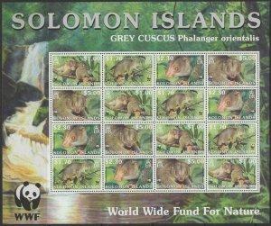 SOLOMON ISLANDS SG1003/6 2002 ENDANGERED SPECIES SHEETLET MNH