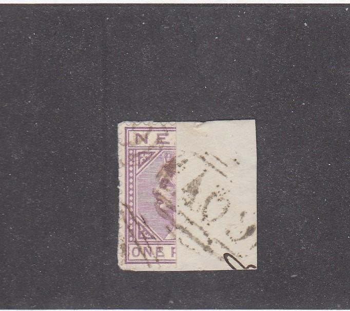 NEVIS # 22a  1p  QUEEN VICTORIA VIOLET HALF USED AS 1/2p ON COVER