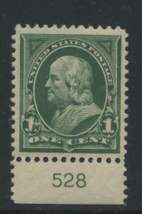 1898 US Stamp #279 1c Mint XF Grade 95 Original Gum Never Hinged Certified