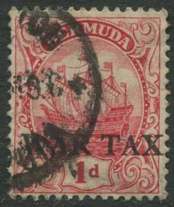 Bermuda -Scott MR1 - War Tax Issue - 1918 -Used -Single 1p Stamp