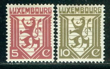 Luxembourg Scott # 195 - 196, mint hr