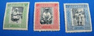JAMAICA 1923  -  SCOTT # B1-B3   MH    (V2j2)