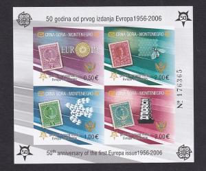 Montenegro   #129E   MNH  2006  imperf  Europa stamps 50th anniversary