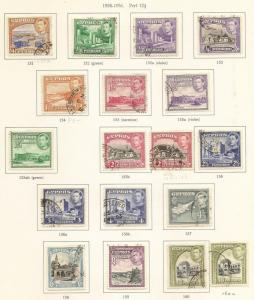 Cyprus 1938 Definitive Set SG151-163 Used