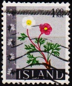 Iceland. 1964 1k S.G.413 Fine Used