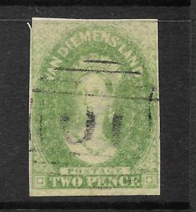 TASMANIA  1857-69  2d     QV  FU   SG 32