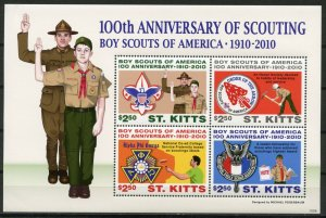 ST KITTS -  SCOUTING, 100TH ANNIVERSARY  2010 S466