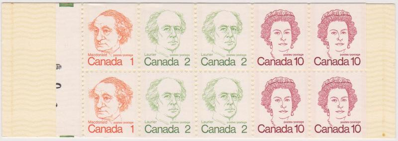 Canada USC #BK76g Mint VF-NH Partial Plate Numbers on Tab!!!!!!!!!!!